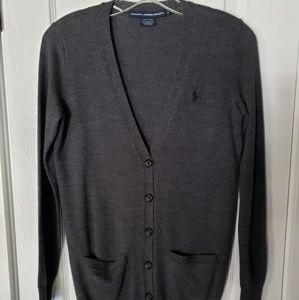 Ralph Lauren Sport grey wool cardigan XS